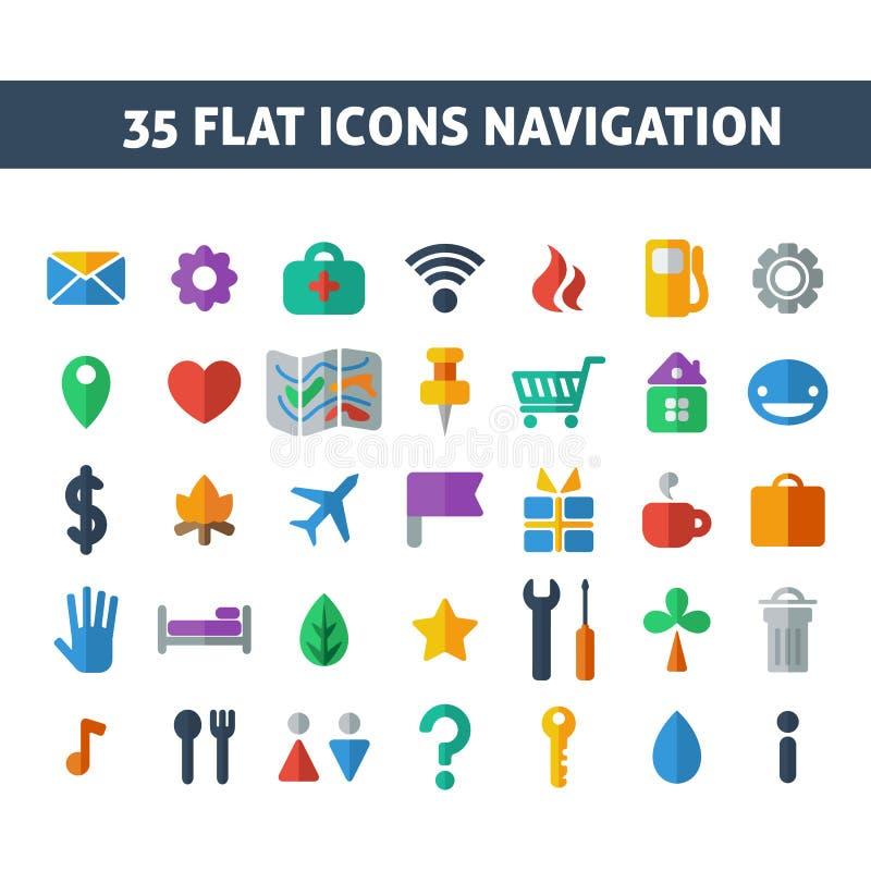 Navigation icons royalty free illustration