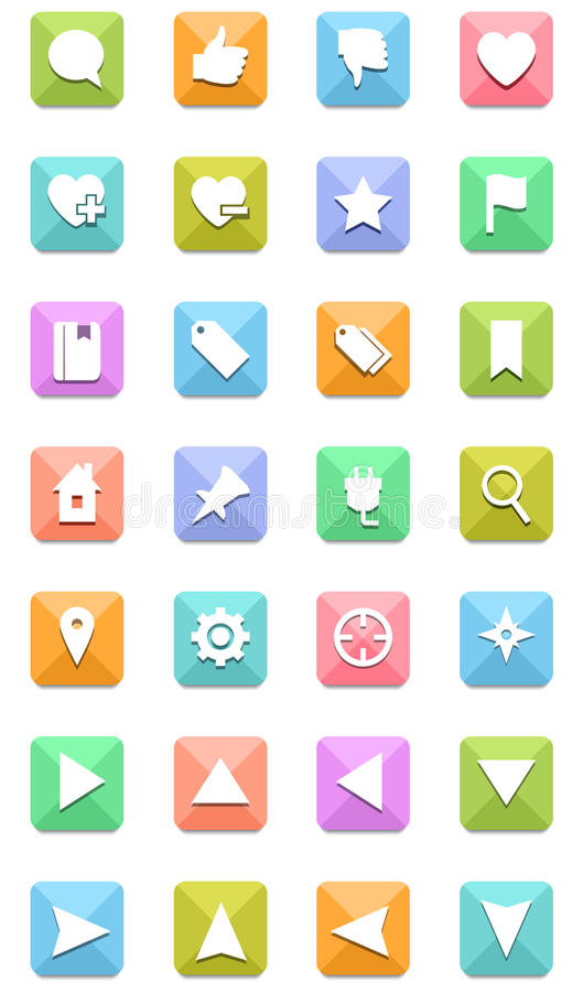 Download Navigation icons set stock photo. Image of search, button - 33933260