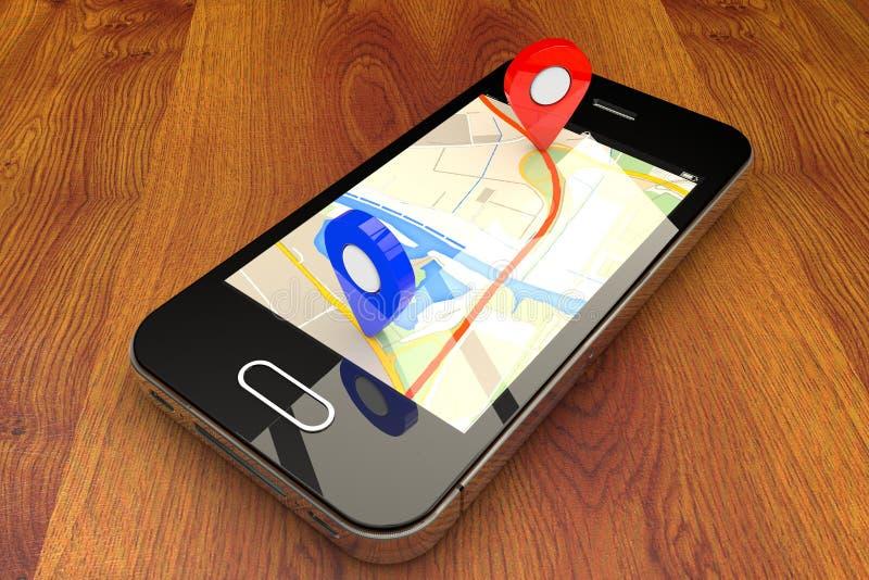Navigation mobile de GPS image stock