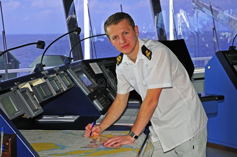 Navigation Officer Stock Photo