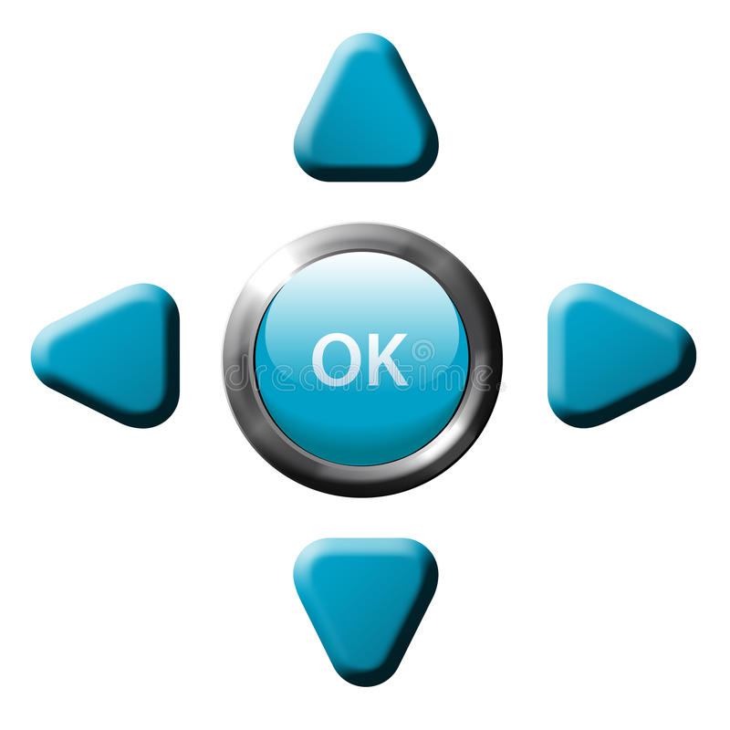 Navigation OK arrow remote control buttons royalty free illustration