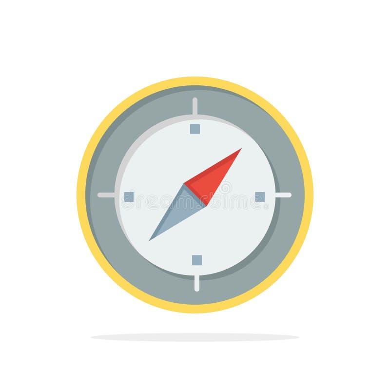Navigation, Richtung, Kompass, Gps extrahieren flache Ikone Farbe des Kreis-Hintergrundes vektor abbildung