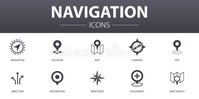 Navigation Simple Concept Icons Set stock abbildung