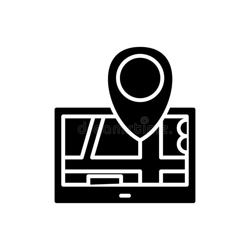 Navigation system black icon concept. Navigation system flat vector symbol, sign, illustration. Navigation system black icon concept. Navigation system flat vector illustration