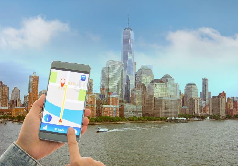 Download Navigation System Or GPS Smartphone Stock Photo - Image of free, businessman: 78850526
