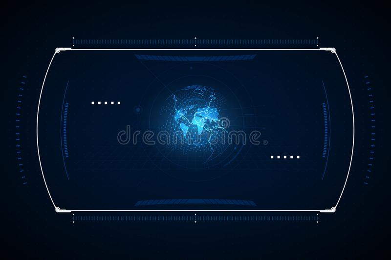 The navigation system, the interface design of the sense of science and technology. vector illustration stock illustration