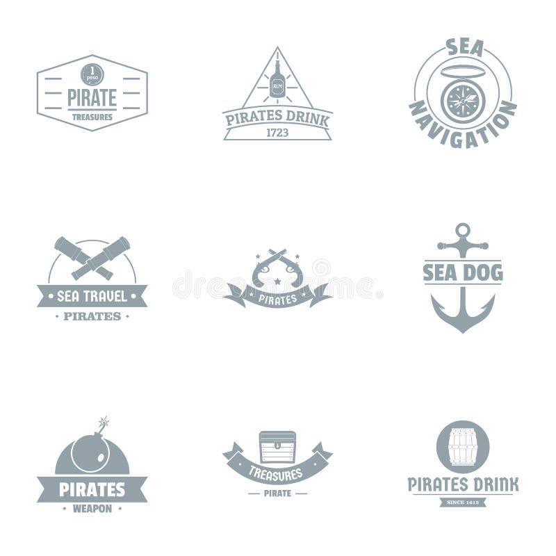 Navigation system logo set, simple style. Navigation system logo set. Simple set of 9 navigation system vector logo for web isolated on white background stock illustration