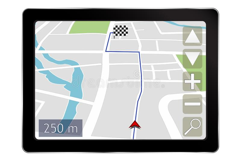 Navigation system. Vector 3d illustration isolated on white background royalty free illustration