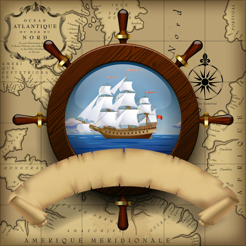 Navigation template stock illustration