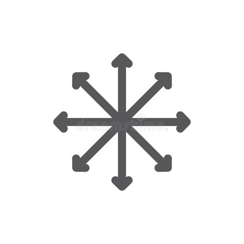 Navigation, traffic, compass, flexibility line icon. stock illustration