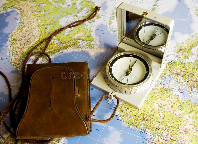 Navigation in world royalty free stock photography