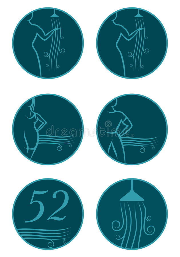 Navigations-Ikonen im Hotel lizenzfreie abbildung