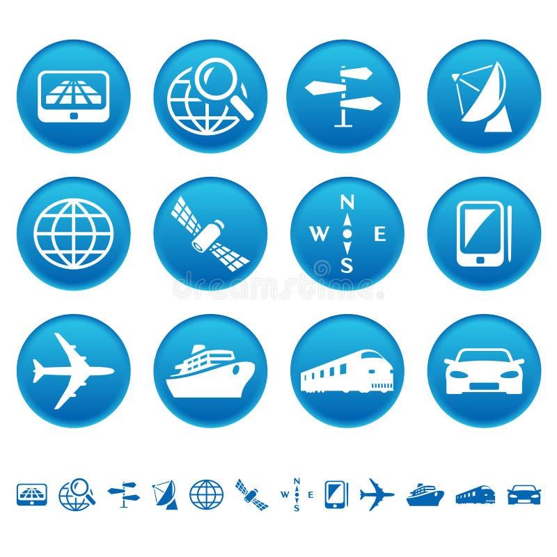 Navigations- U. Transportikonen Stockfotos