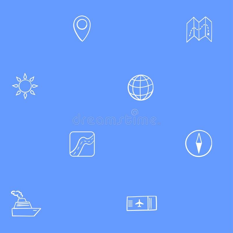 Navigations- und Reisehintergrund lizenzfreie abbildung