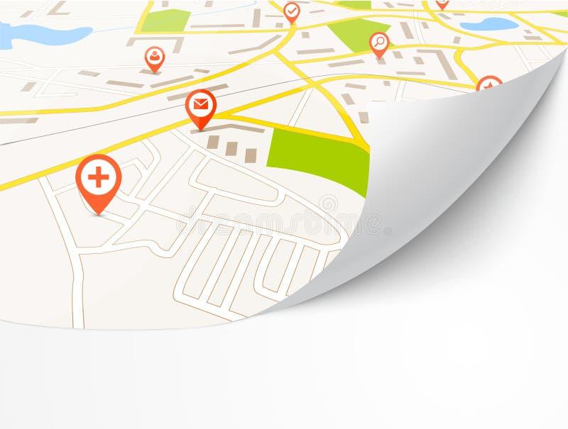 Navigationskarte stock abbildung