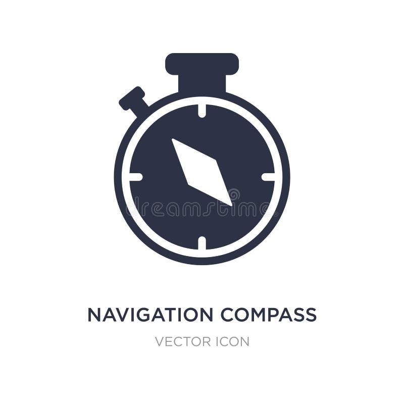 Navigationskompassikone auf weißem Hintergrund Einfache Elementillustration vom Technologiekonzept lizenzfreie abbildung