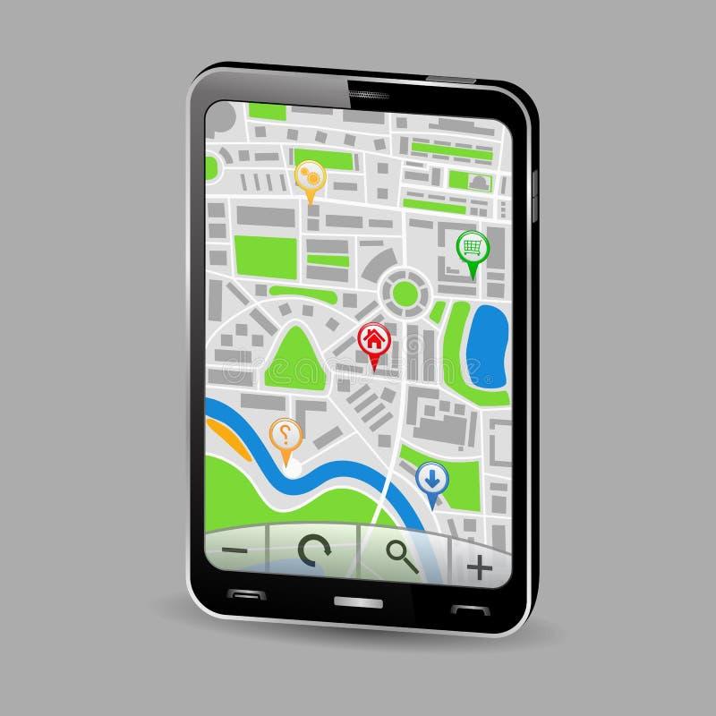 Download Navigator in Smartphone stock vector. Illustration of device - 22533559