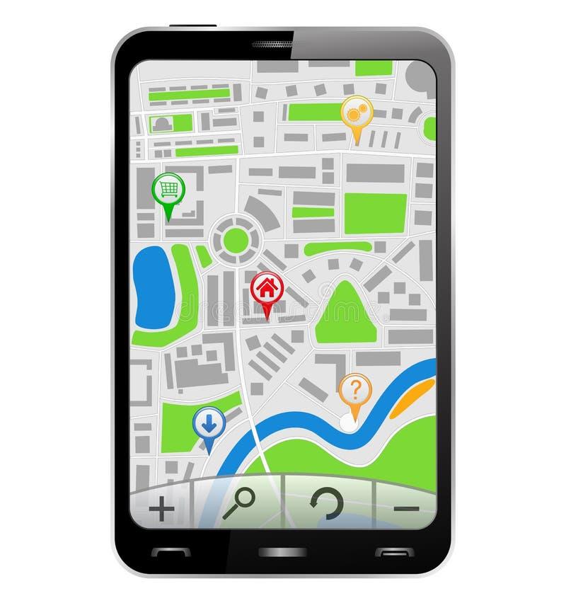 Navigatore in Smartphone illustrazione vettoriale