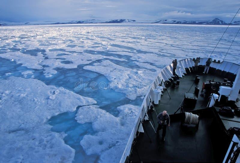 Navigazione dei ghiacci del pack fotografia stock libera da diritti