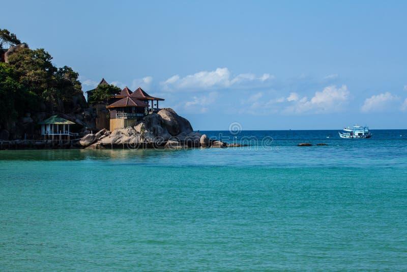 Navigazione del traghetto sul mare delle Andamane fotografie stock