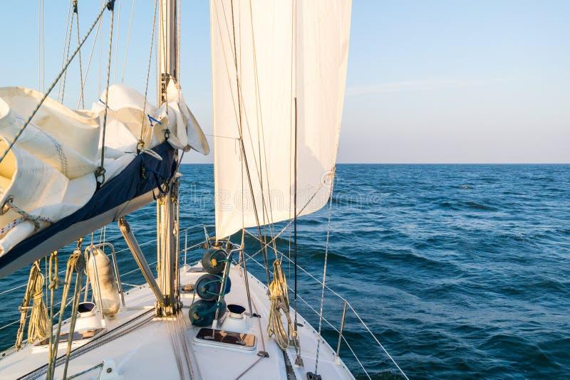 Navigazione della barca a vela sul mare di Wadden, Paesi Bassi immagini stock
