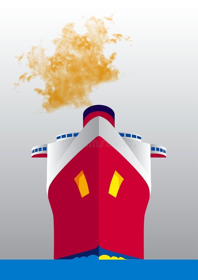 Navigazione della nave royalty illustrazione gratis