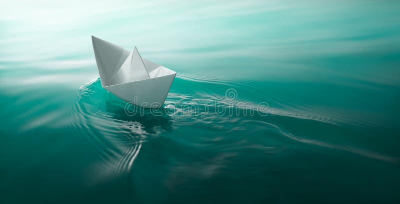 Navigazione di carta della barca fotografia stock