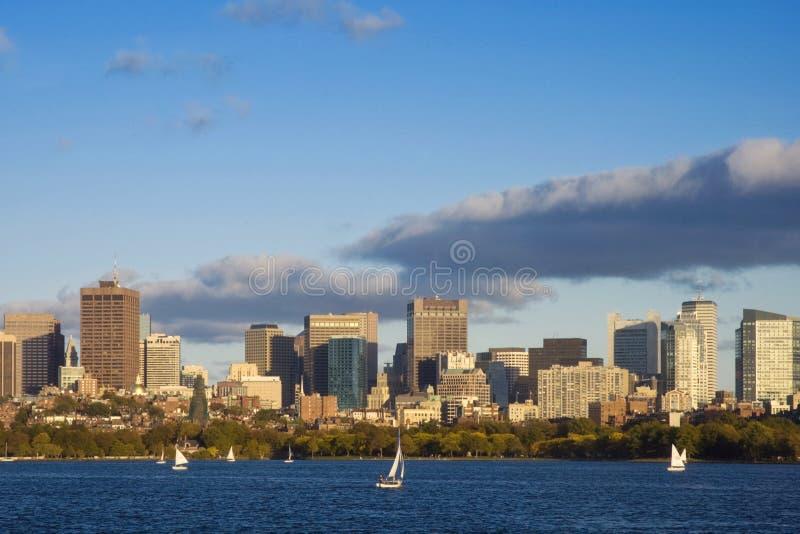 Navigazione di pomeriggio a Boston, Massachusetts fotografie stock