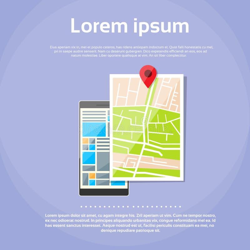 Download Navigazione Mobile Del Globo Dei Gps Della Mappa Di Mondo Del Telefono Cellulare Illustrazione Vettoriale - Illustrazione di dispositivo, perno: 56883636