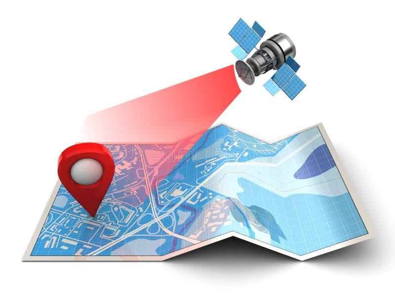 navigazione satellitare royalty illustrazione gratis