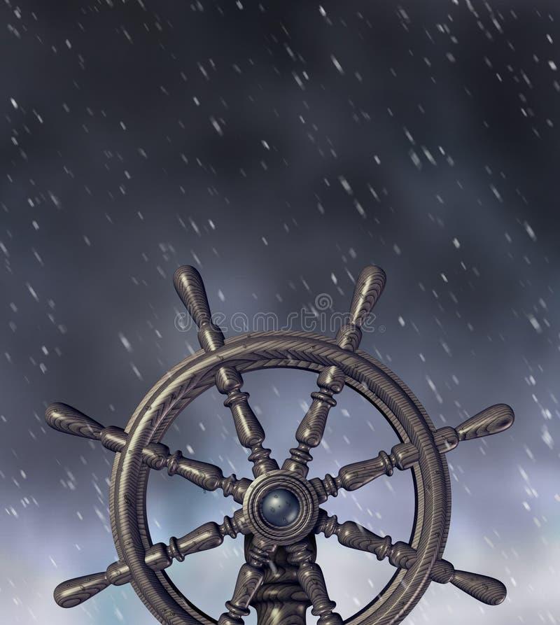 navigera storm stock illustrationer
