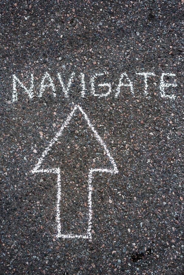 navigering arkivbild