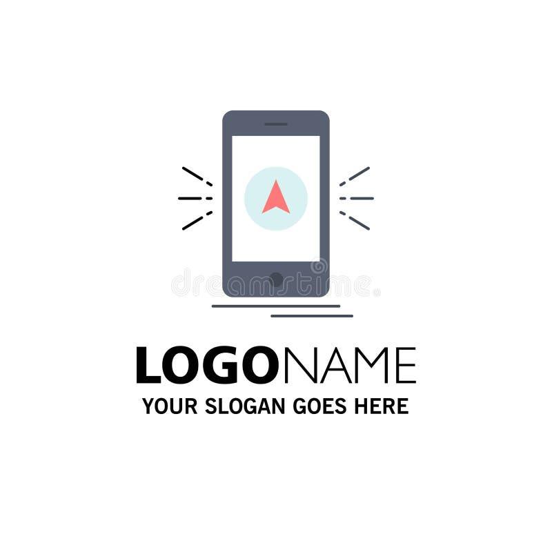 navigering app som campar, gps, för färgsymbol för läge plan vektor stock illustrationer