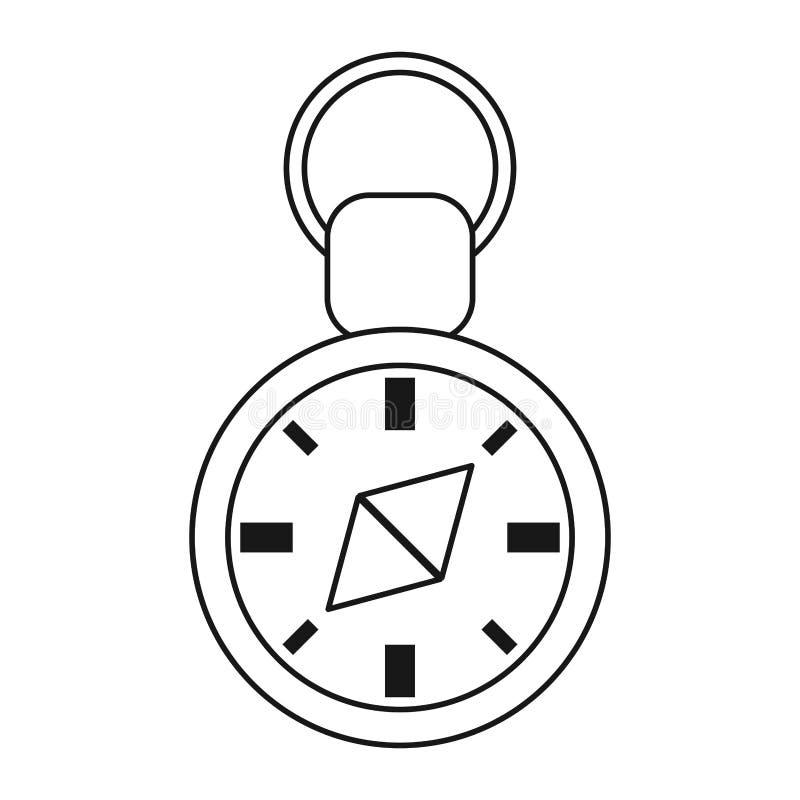 navigering för kompassloppgps gör linjen tunnare royaltyfri illustrationer