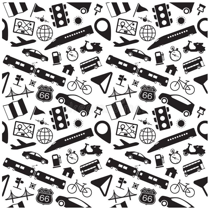 Navigering- och loppsymboler, bakgrund stock illustrationer