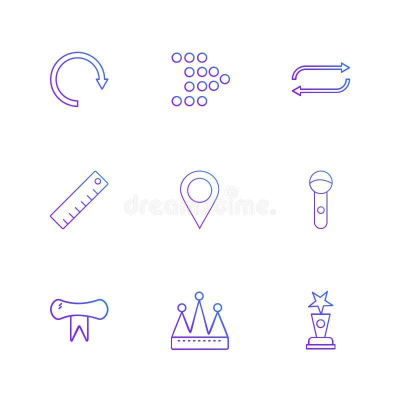 navigering skala, nollställning, pilar, riktningar, avatar, ner vektor illustrationer