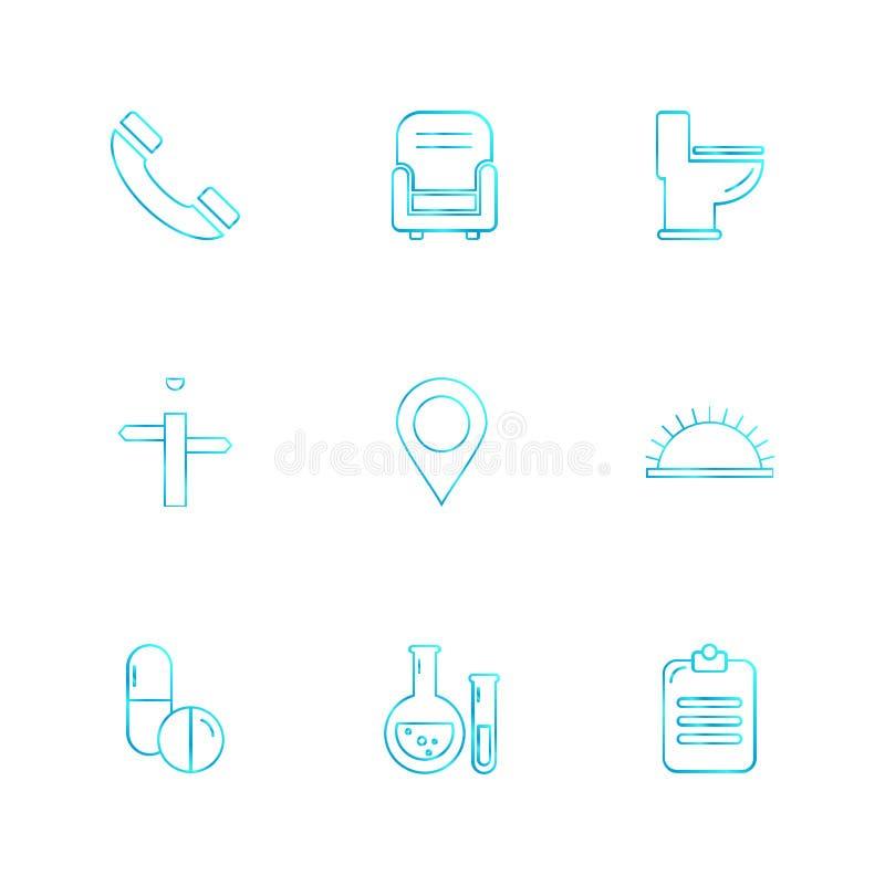 navigering uppkopplingsmöjlighet, nätverket, grafen, eps-symboler ställde in vect royaltyfri illustrationer