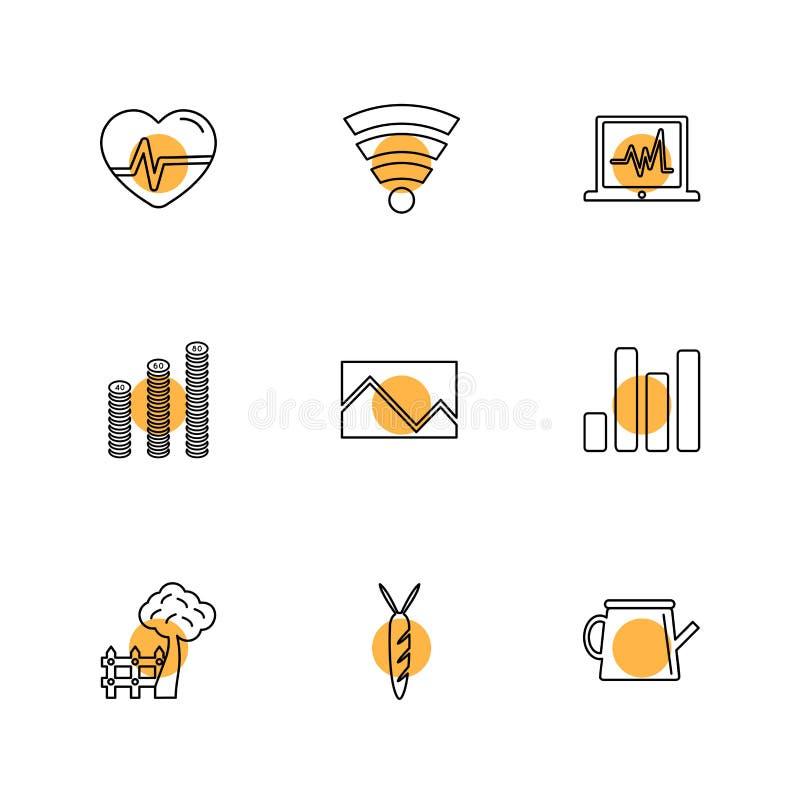 navigering uppkopplingsmöjlighet, nätverket, grafen, eps-symboler ställde in vect stock illustrationer