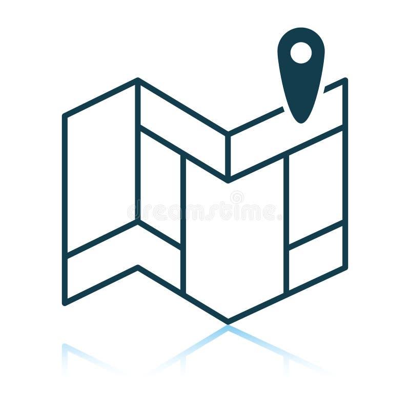 Navigering?versiktssymbol stock illustrationer