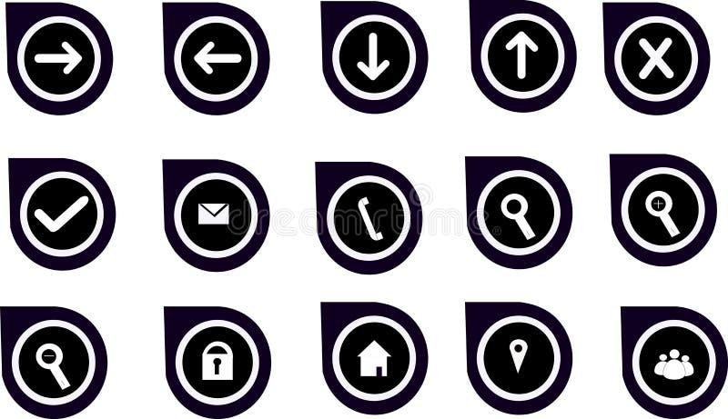 Navigeringdiagram & symboler för Websites arkivbilder