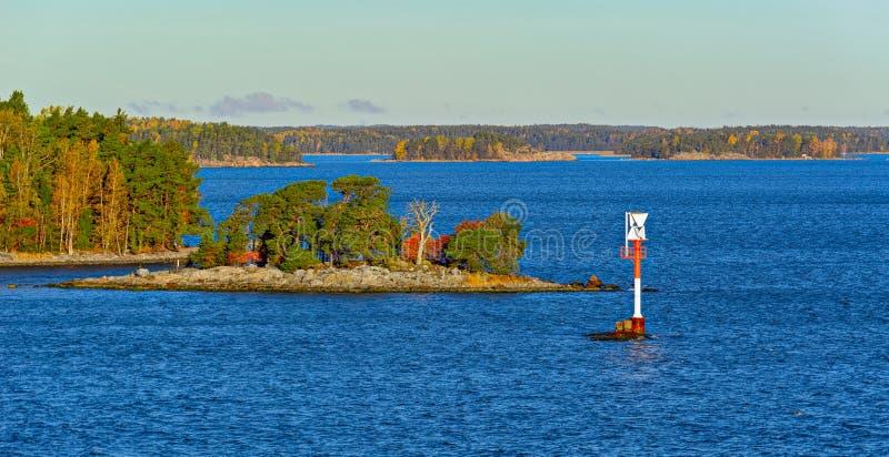 Navigeringfläckar i den Turku skärgården fotografering för bildbyråer