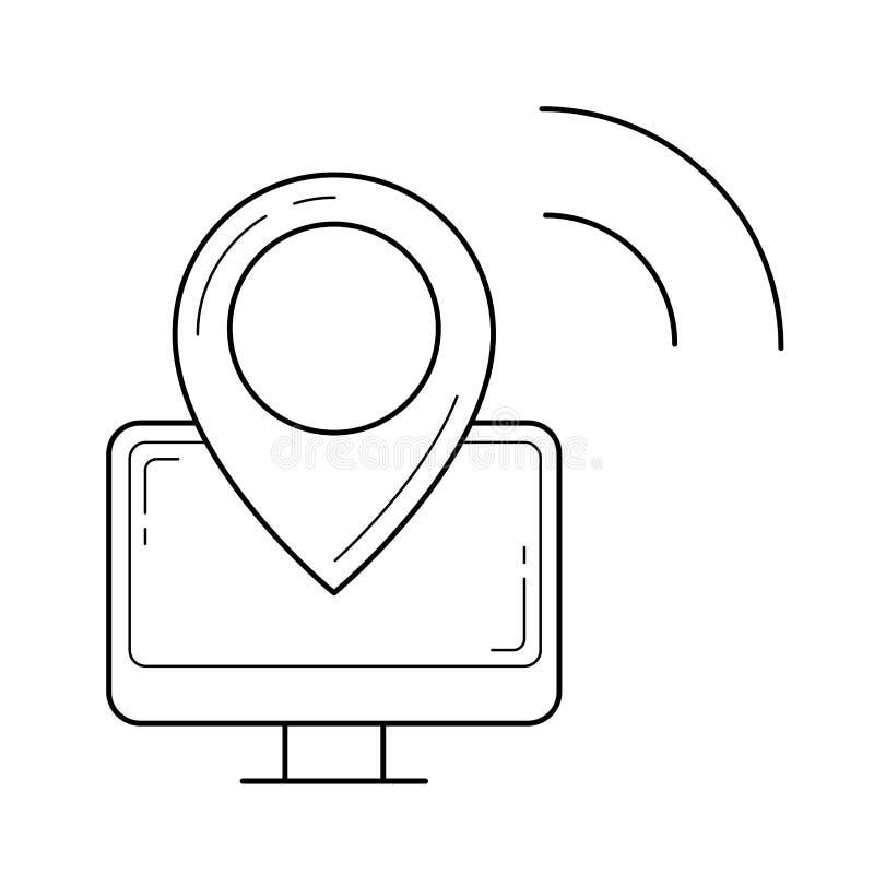 Navigeringlinje symbol royaltyfri illustrationer