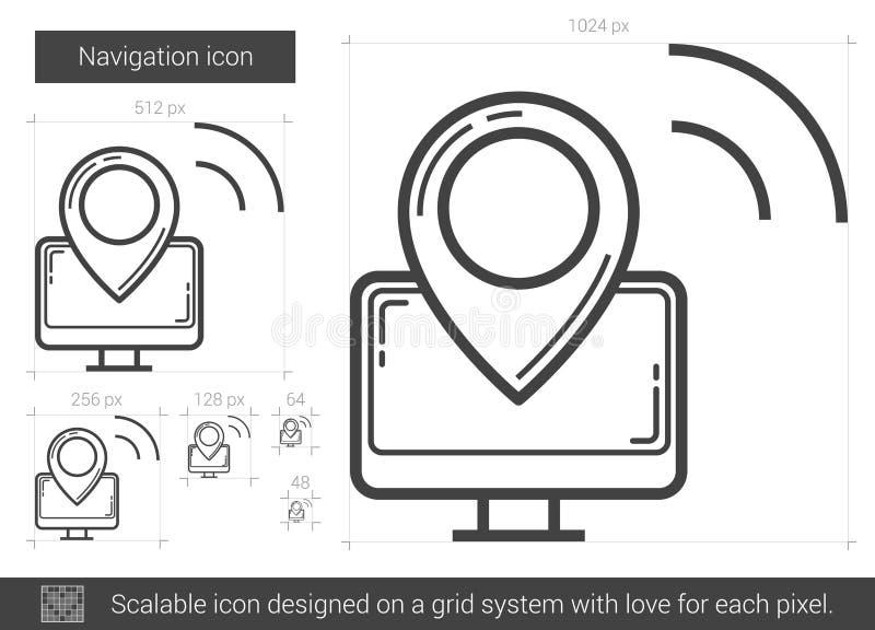 Navigeringlinje symbol stock illustrationer