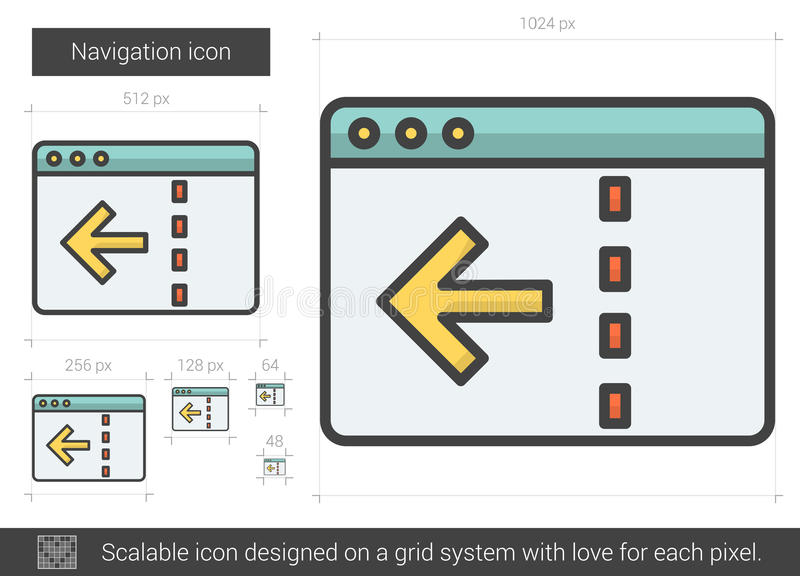 Navigeringlinje symbol vektor illustrationer