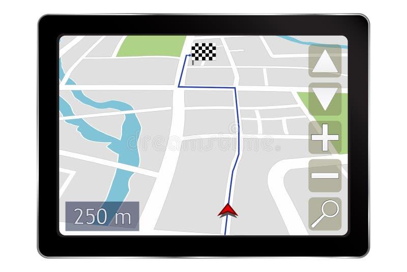 Navigeringsystem royaltyfri illustrationer