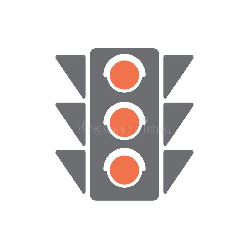 Navigeringtrafikljussymbol på vit bakgrund för diagrammet och rengöringsdukdesignen, modernt enkelt vektortecken för färgbegrepp  stock illustrationer