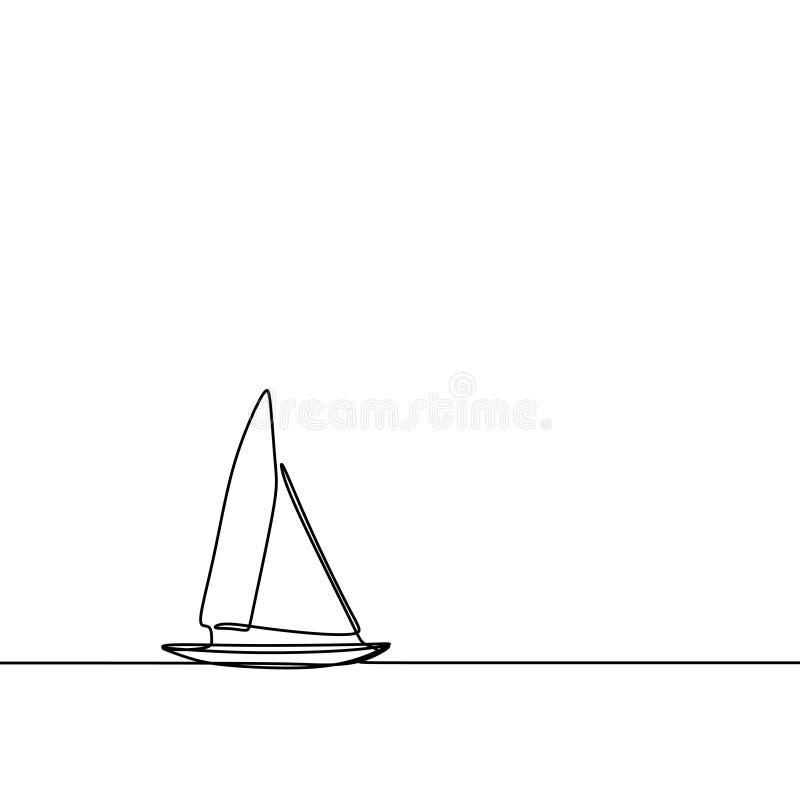 Navighi un stile minimalista di progettazione continua del lineart del disegno a tratteggio illustrazione vettoriale