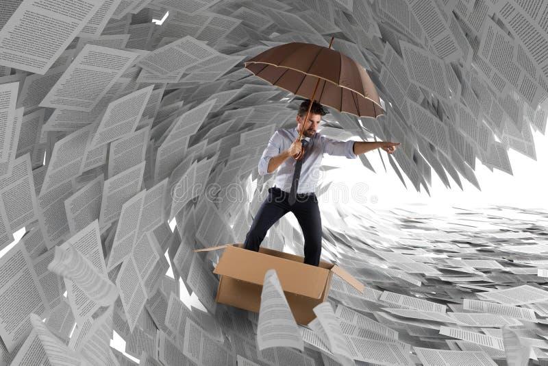 Navigieren Sie den Sturm der Bürokratie stock abbildung