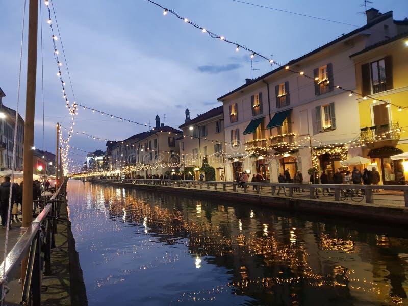 Navigli grand canal in milano milan italy italia. Navigli grand canal milano italy italia stock images