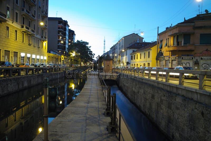 Navigli i Milan fotografering för bildbyråer